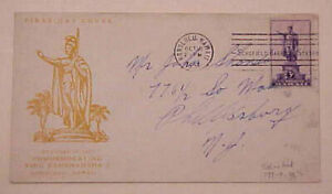 HAWAII FDC  UNLISTED  1937 COLOR PINK #799-9