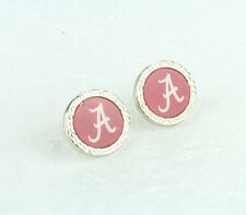 Wincraft Atlanta Braves Crest Earrings Joyas De Béisbol MLB para mujer