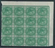78471 -  INDIA  - STAMPS -  STANLEY GIBBONS#  103 corner block of 16 MINT MNH