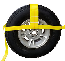 """(1 pair) 12""""-18"""" TOW DOLLY ADJUSTABLE STRAPS, AXLE CAR TRANSPORT 4X4 TIE DOWN"""