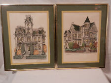Curt Humphrey Lithograph Governer's Mansion 16th & H Streets Sacramento Californ