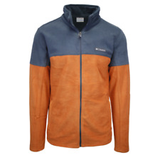 Columbia Men's Orange & Grey Basin Trail Full Zip Fleece Jacket (Retail $55) 820