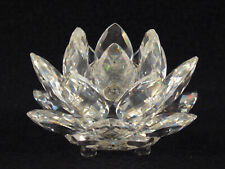Swarovski Crystal Water Lily Taper Candle Holder - signed & old block logo