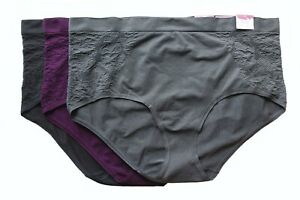 Lot Cacique Lane Bryant Lace Level 1 Smoother Full Brief Panties 26/28 4X