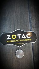 Zotac Graphics Card Sticker Logo Decal Pushing The Limits
