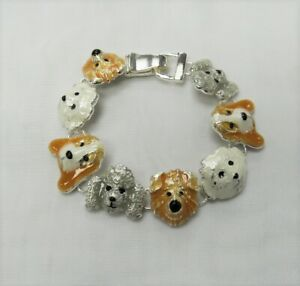 Silver Plated Dog Charm Bracelet Puppy Pooch Pet Lovers Gift # 557 NEW