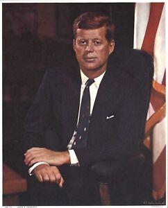 1961 JOHN F. KENNEDY JFK White House Presidential Portrait Photo Fabian Bachrach