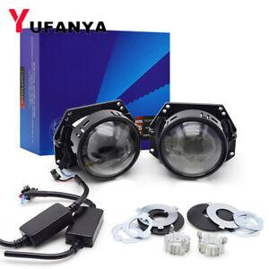 3.0'' Bi LED Projector Lens 90W 6000K Car Headlight Kit Auto Universal Retrofit