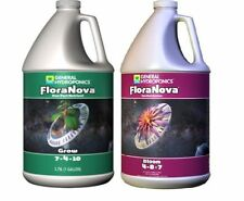 General Hydroponics FloraNova Grow Bloom Liquid Base Nutrient 1 Gallon