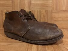 VTG🔥 Red Wing 595 Chukka Hard Working Boot Made In USA Sz 11 D Brown Leather LE