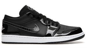 Jordan 1 low ASW black white Patent leather all star carbon retro DD1650-001 men
