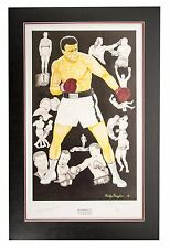 Muhammad Ali autographed painting.  Letter Of Authentication from PSA/DNA