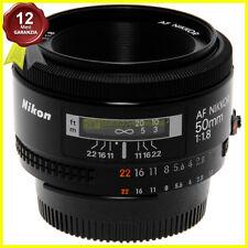 Nikon AF Nikkor 50mm f1,8 Obiettivo autofocus usato per fotocamere. Japan.
