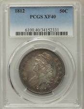 1812 CAPPED BUST HALF DOLLAR LARGE 8  PCGS XF 40