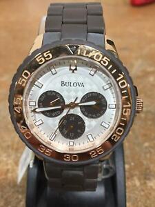 Bulova Women's  98N103 Brown Resin Band Rose Gold 40mm Bracelet Watch NO BOX