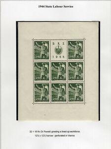 CROATIA 1944. Michel 165 A MNH miniature sheet