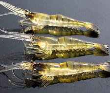 10* Shrimp Fishing Simulation Soft Prawn Lure Hook Tackle Bait Sea Fishing Lures