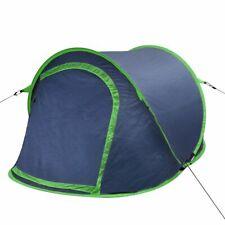 vidaXL Tenda da outdoor e campeggio pop-up per 2 persone blu marino / verde