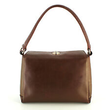 Authentic Vintage Gucci from the 1980's Leather Top Handle Bag in Brown Italy