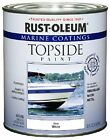 Marine Topside Paint Boat High Gloss Fiberglass Wood Metal Durable White 1 Quart