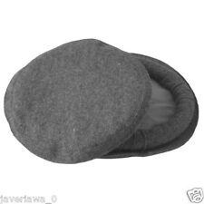 3pcs Gray color Handmade afghan pakol pakul wool hat cap topi for men and women