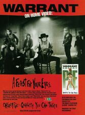 Warrant Cherry Pie Quality You Can Taste Home Video 1991 8x11 Promo Poster Ad