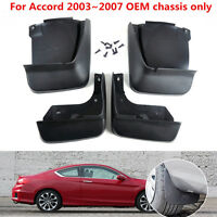 4PCS MUD FLAP FLAPS SPLASH GUARDS MUDGUARDS FIT FOR 2003~2007 HONDA ACCORD SEDAN