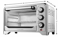 Toaster Convection Oven Countertop X-Large Stainless Steel 6 Slice Chefman.