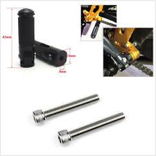 2 Pcs Black CNC Aluminum 87mm Motorcycle ATV Folding Footrest Foot Peg Universal