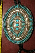 Turquoise Silver BOLA TIE
