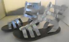 NEW $79 Crown Vintage Nine Silver Gladiator Sandal Szs 6 & 5
