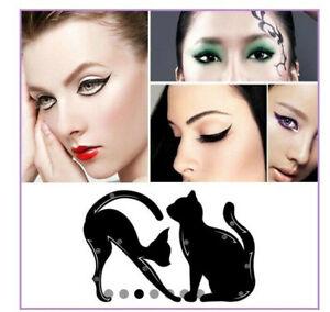 cat line Pochoir gabarit Eye liner Stencil  - 10 formes -