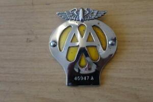 MOTORBIKE / MOTORCYCLE AA BADGE. 45947A