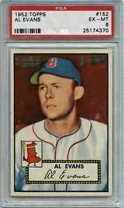 Al Evans 1952 Topps # 152 - PSA 6