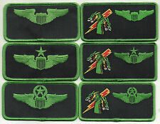 "USAF Patch 459th FLYING TRAINING SQUADRON 6 Piece Nametag Set, each 2"" X 4"" Size"
