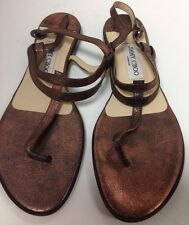 Jimmy Choo Sandle  Copper Strappy Leather Strap  Size 39