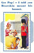 POSTCARD  COMIC    Gee  Pop !  I told you Bearskin meant his  bonnet