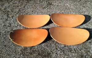 4 Wooden Saddle Stool Seats Mid Century Modern Retro Decor