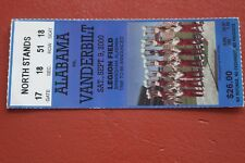 2000 VANDERBILT VS ALABAMA FOOTBALL TICKET STUB