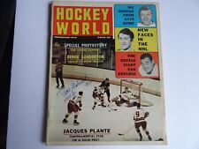 November 1970 Hockey World magazine - HOF Frank Mahovlich auto on  Cover