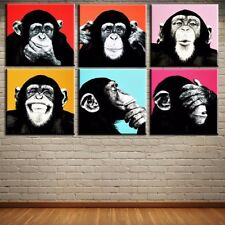 """""""Monkey"""" Andy Warhol, HD Print on canvas Picture for wall 12x12""""x6pcs art set"""