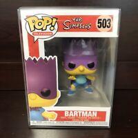 "Funko Pop The Simpsons : Bartman #503 Vinyl w/case ""MINT""  -IN STOCK-"