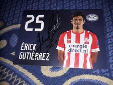 Signierte AK Erick Gutierrez PSV EINDHOVEN NEU MEGA RAR