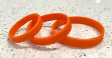 """10 """"Let's Find a Cure!"""" Orange Silicone Wristband Bracelets S/M/L Mix and Match"""