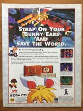 Authentic Keio Flying Squadron Sega CD 1994 Vintage Poster Ad Art Print Rare HTF
