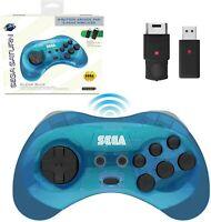 Retro-Bit SEGA Saturn 8-Button Arcade Pad - 2.4 GHz Wireless Controller
