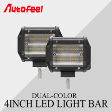 4Inch 504W Quad-Row LED Work Light Bar Flood Combo Pods Driving Offroad 4WD SUV