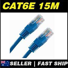 1x 15m Cat 6 Cat6  Blue  Ethernet Network LAN Patch Cable Lead
