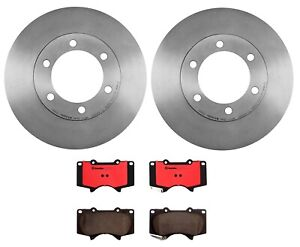 Brembo Front Brake Kit Ceramic Pads Vented Disc Rotors for Toyota Sequoia Tundra