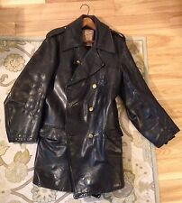Vintage 1950's Providence RI Motorcycle Police Guide Master WOLF Leather Jacket